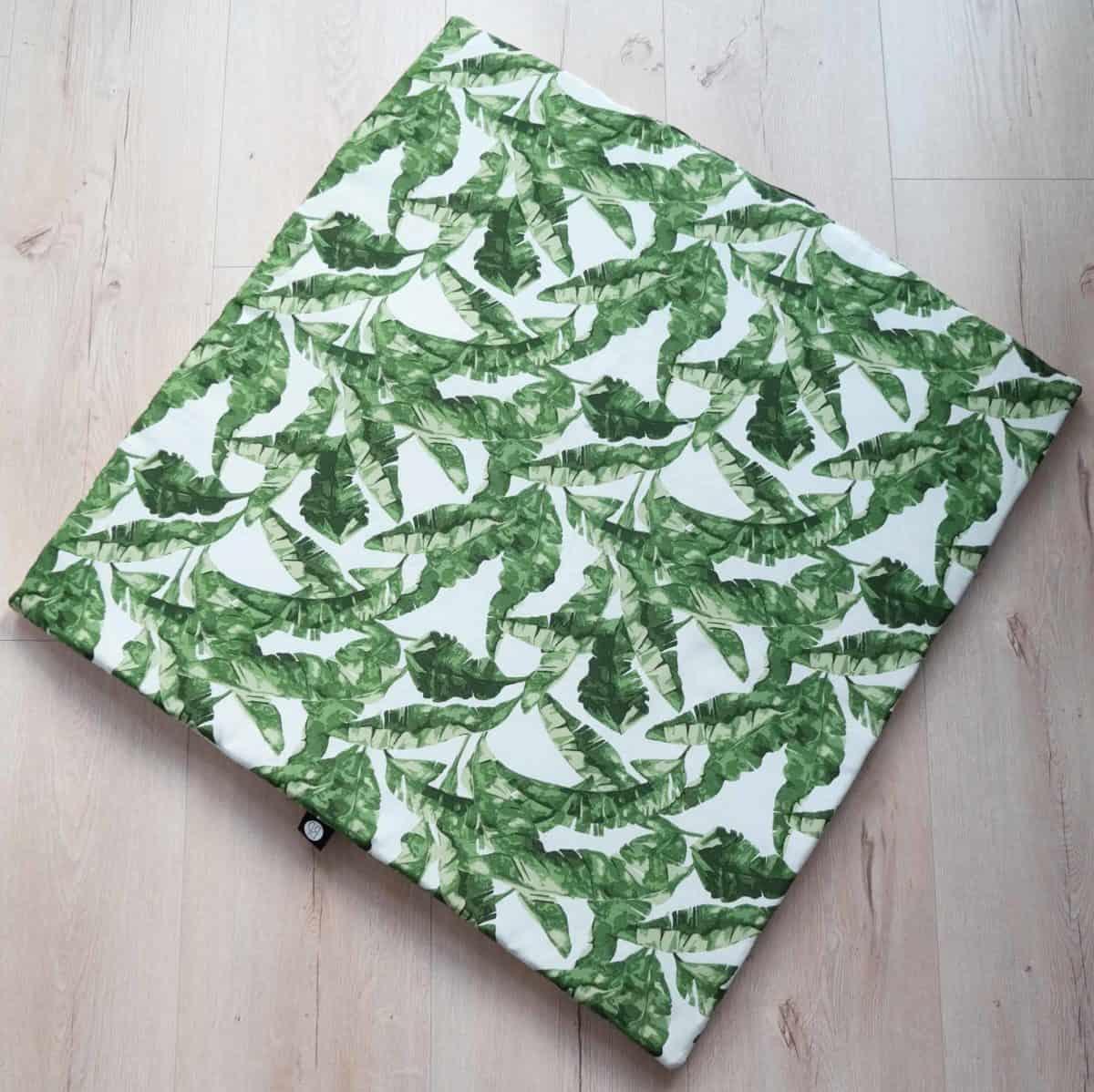 boxkleed vierkant 80 x 80 botanische print