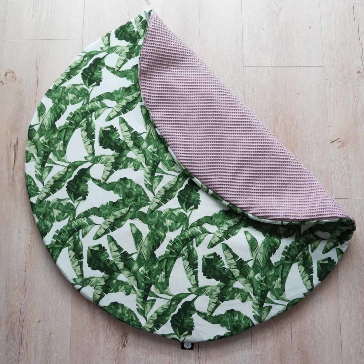 Rond boxkleed in botanical print