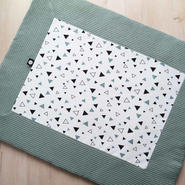 boxkleed wafel saphire zwart wit driehoekjes