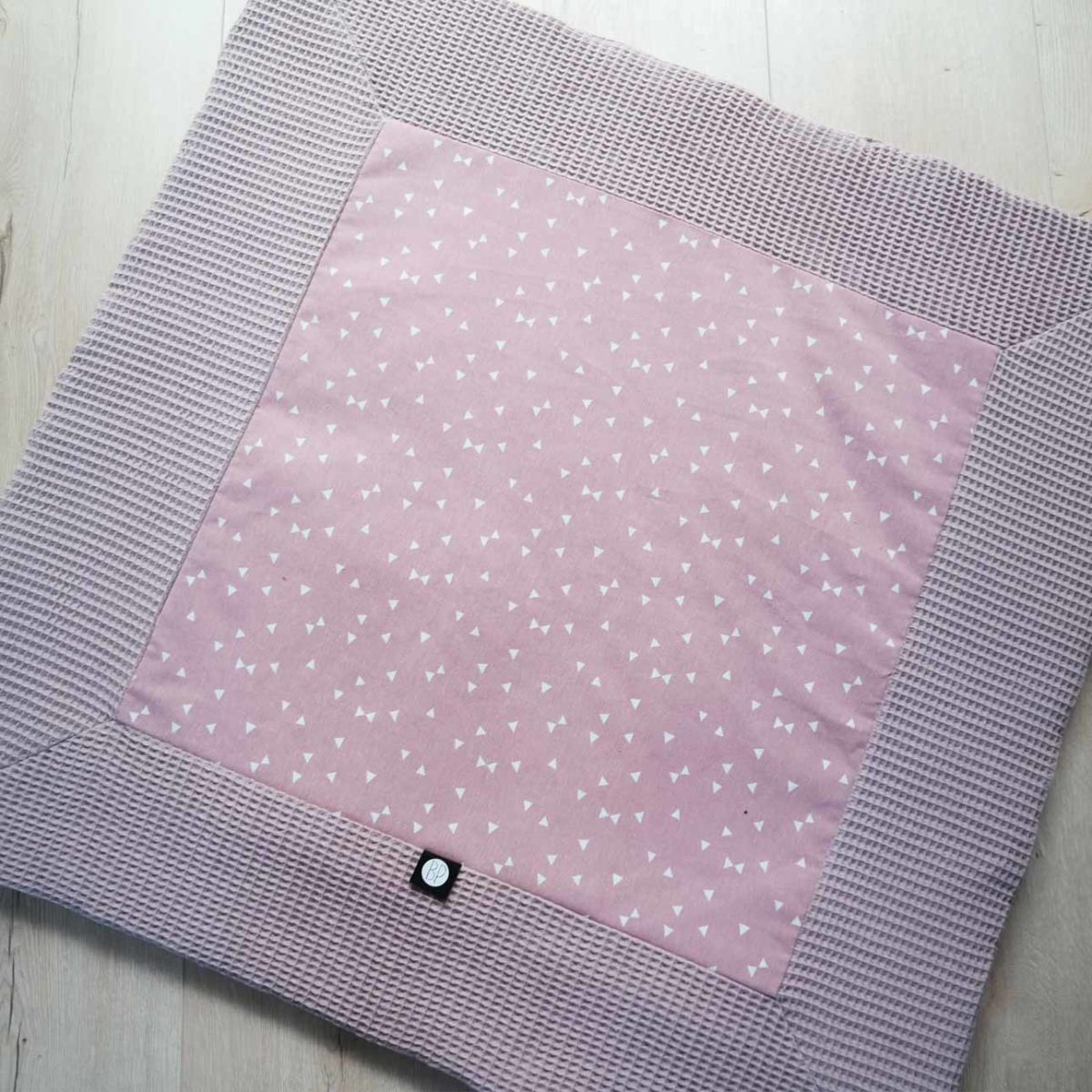 Vierkant boxkleed roze