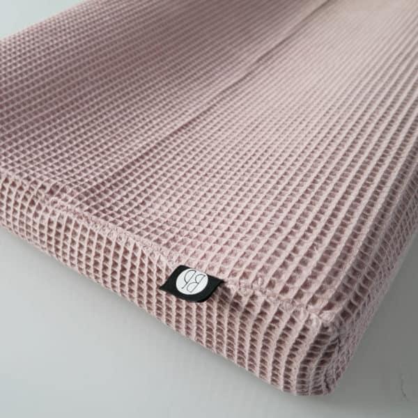 omkleedkussen aankleedkussen wafel in oudroze