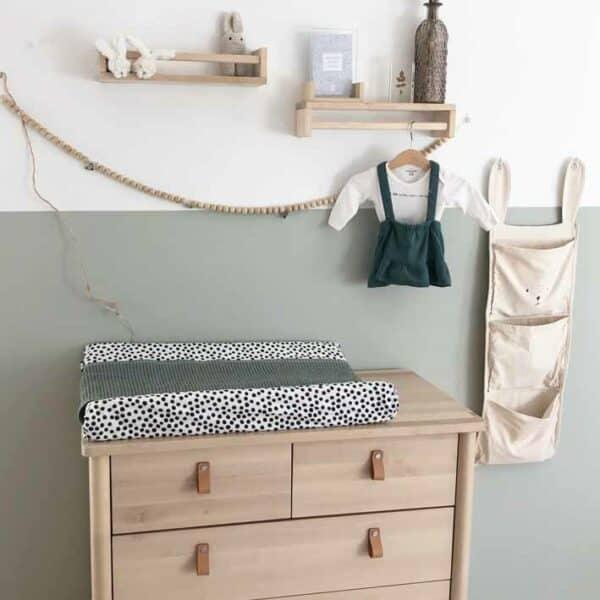 Omkleedkussenhoes voor prenatal waskussen in stippen