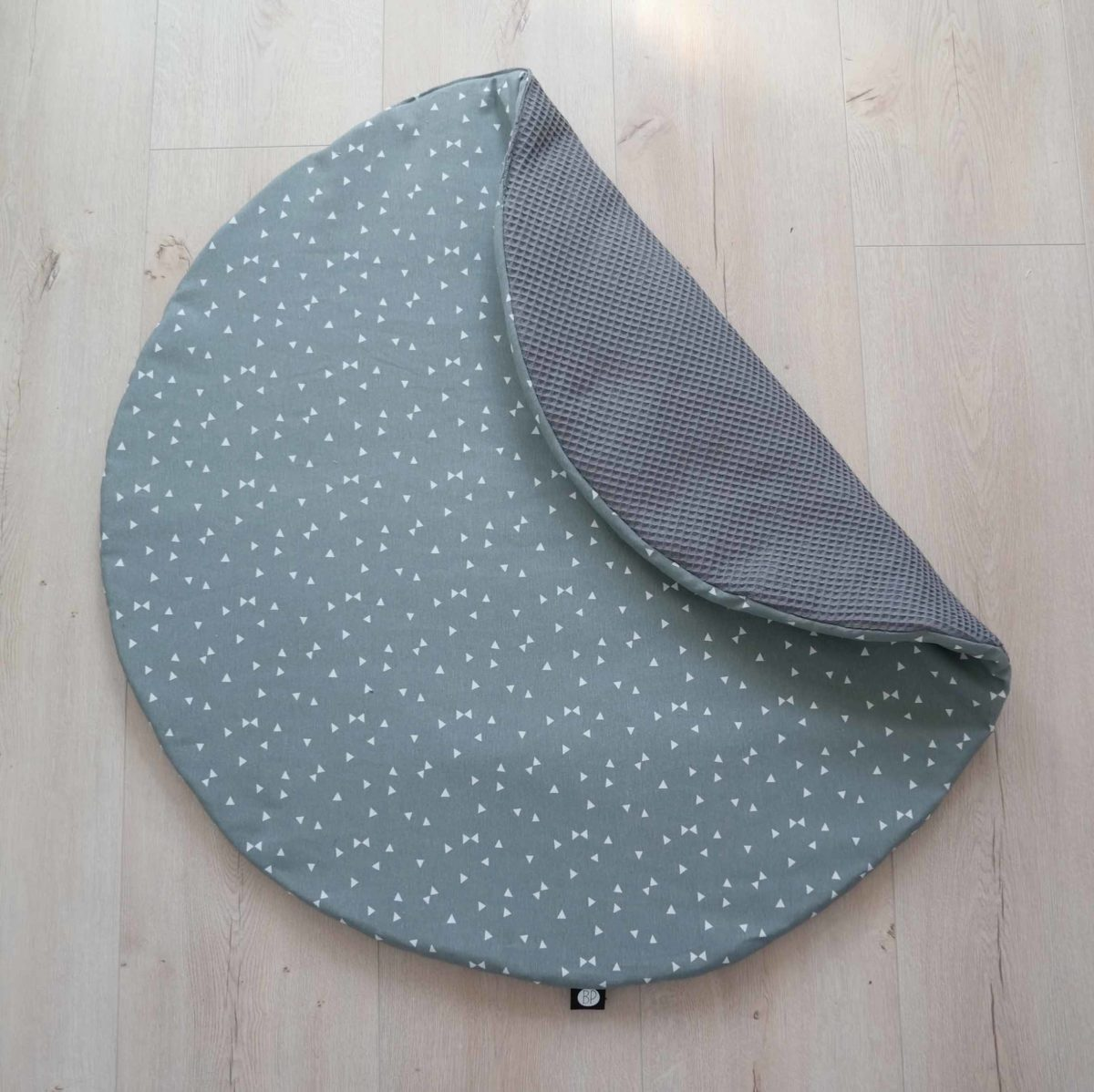 Rond boxkleed triangle grijs groen