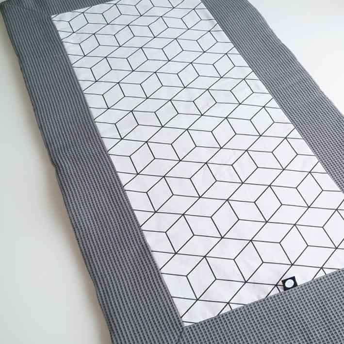Tweelingboxkleed antraciet grijs