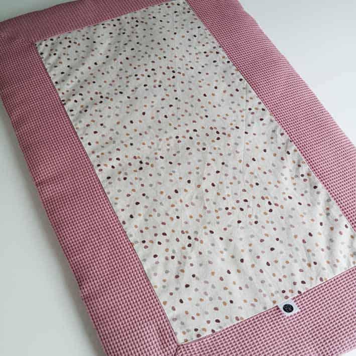 Tweelingboxkleed voor meisjes roze met zand