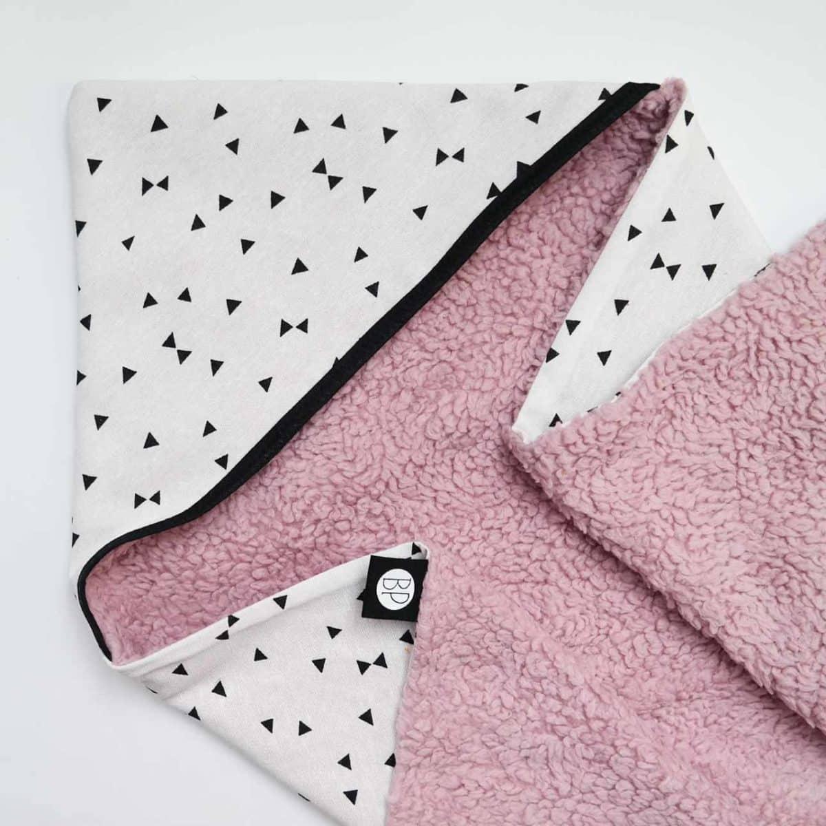 Wikkeldeken roze teddy