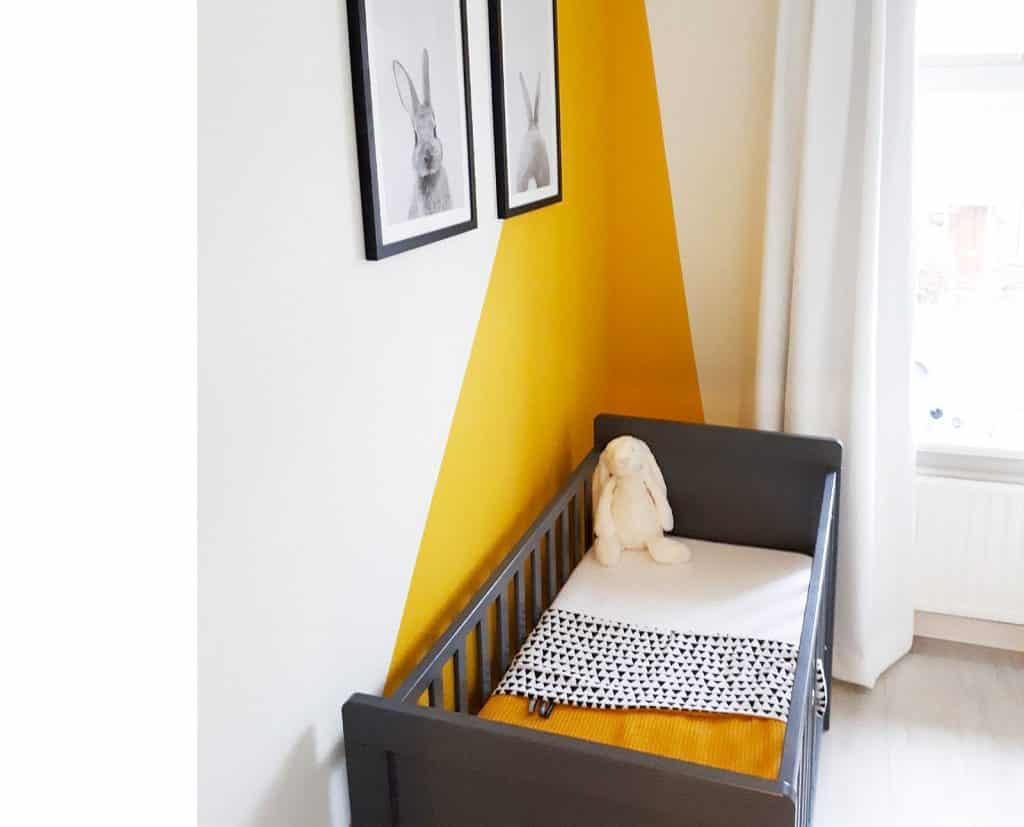 okergeel ledikantdeken voor de babykamer zelf samen stellen