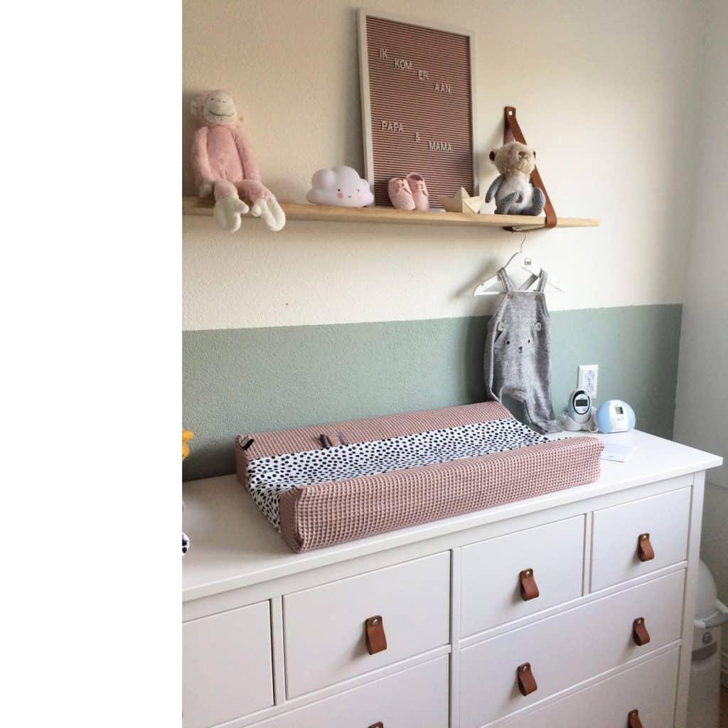 roze aankleedkussen voor de babykamer zelf samen stellen