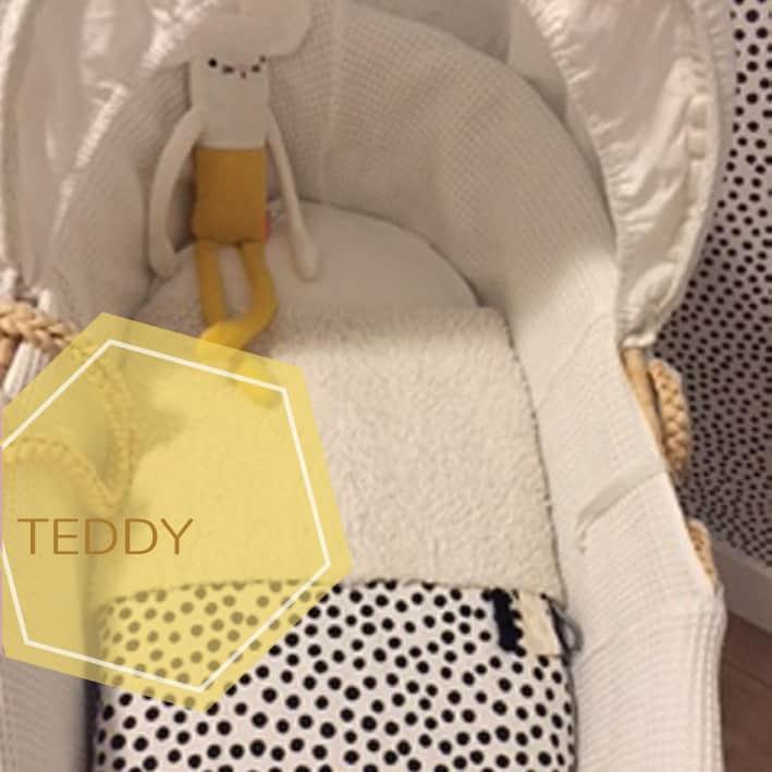 babydeken teddy zelf samen stellen in zwart wit print