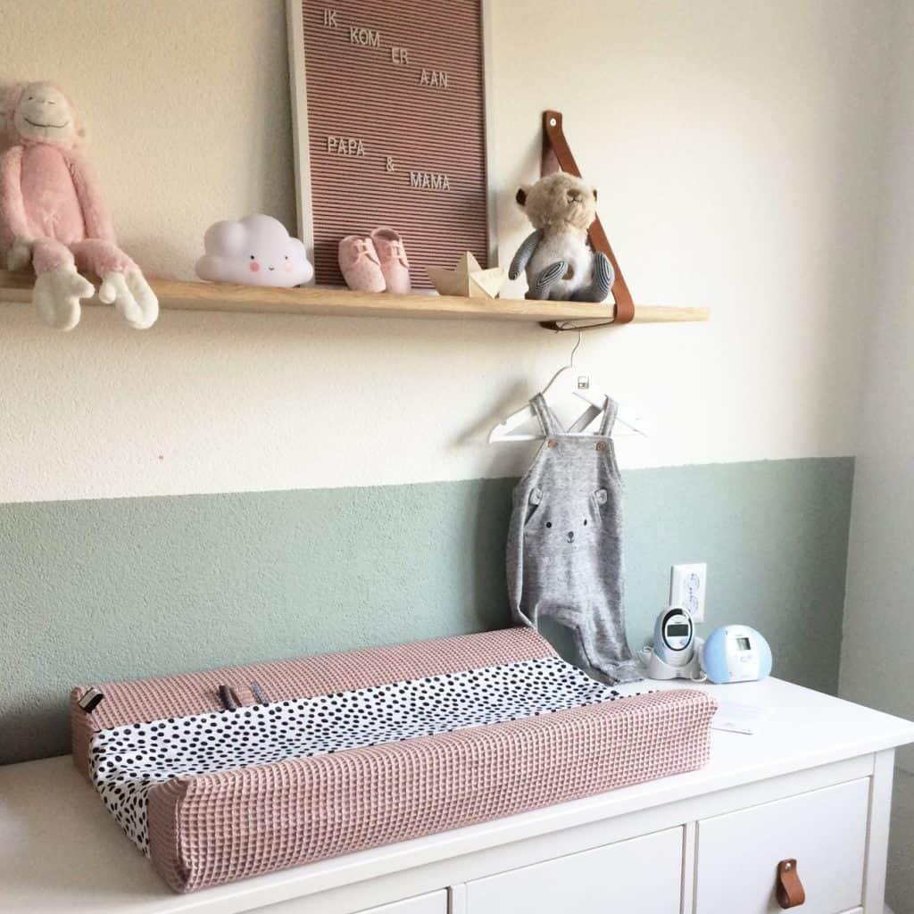 Aankleedkussen waskussen omkleedkussen op maat in wafel roze