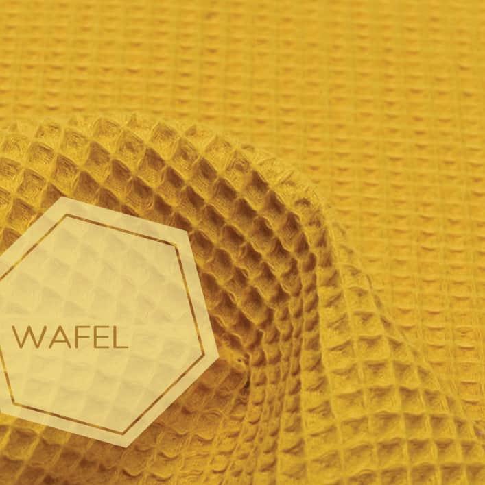 wafel stof oker geel