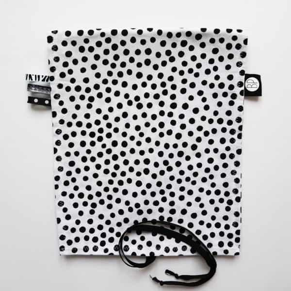 omkleedkussenhoes aankleedkussenhoes zwart wit dots