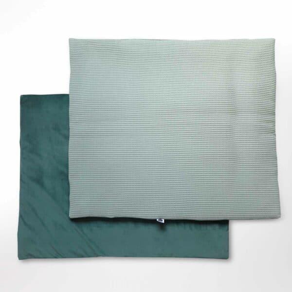 Rechthoekig boxkleed velvet groen