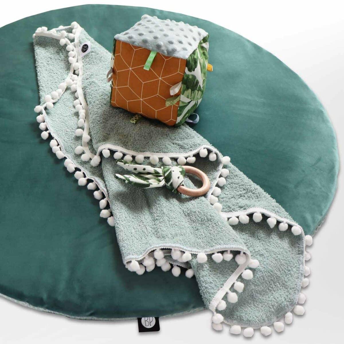 Velvet boxkleed groen voor ronde box