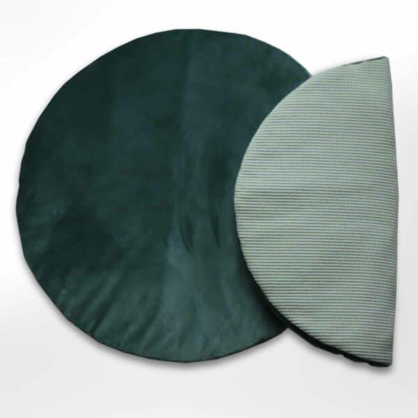 Rond boxkleed velvet groen