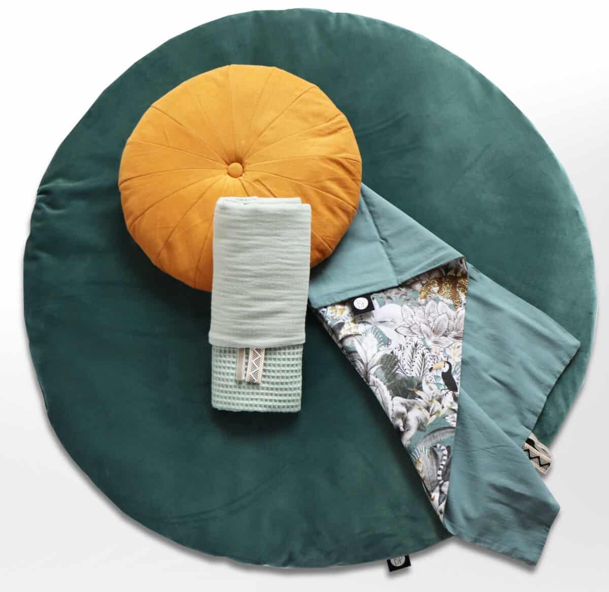 Rond boxkleed velvet velours groen
