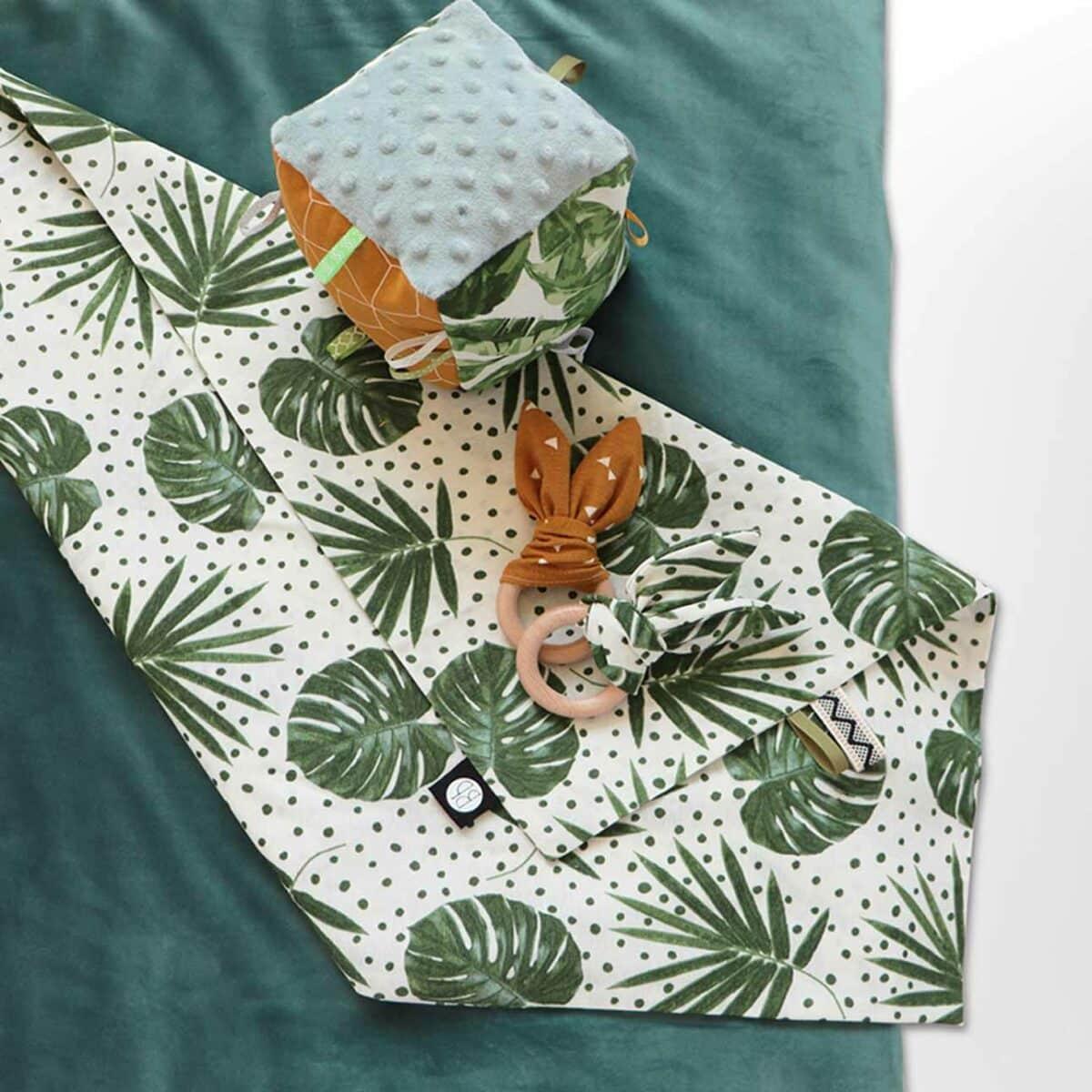 Vierkant boxkleed velvet groen 2