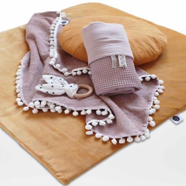 Velvet boxkleed oker velours voor vierkante box