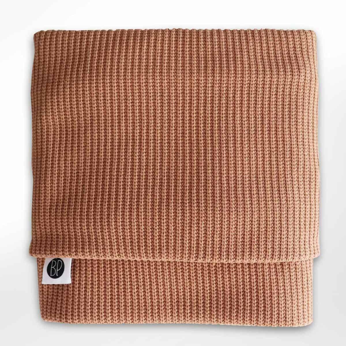 Deken gebreid honing baby blanket knitted