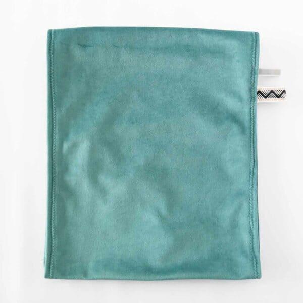 Middenband velvet groen voor omkleedkussen