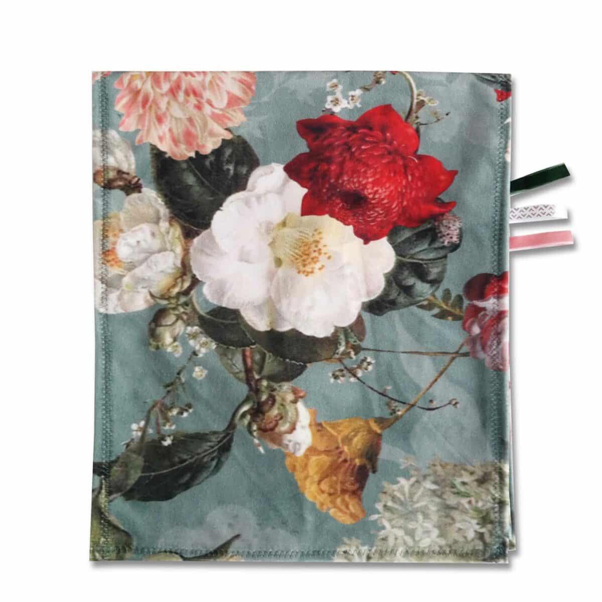 Omkleedkussenband velvet flower 1