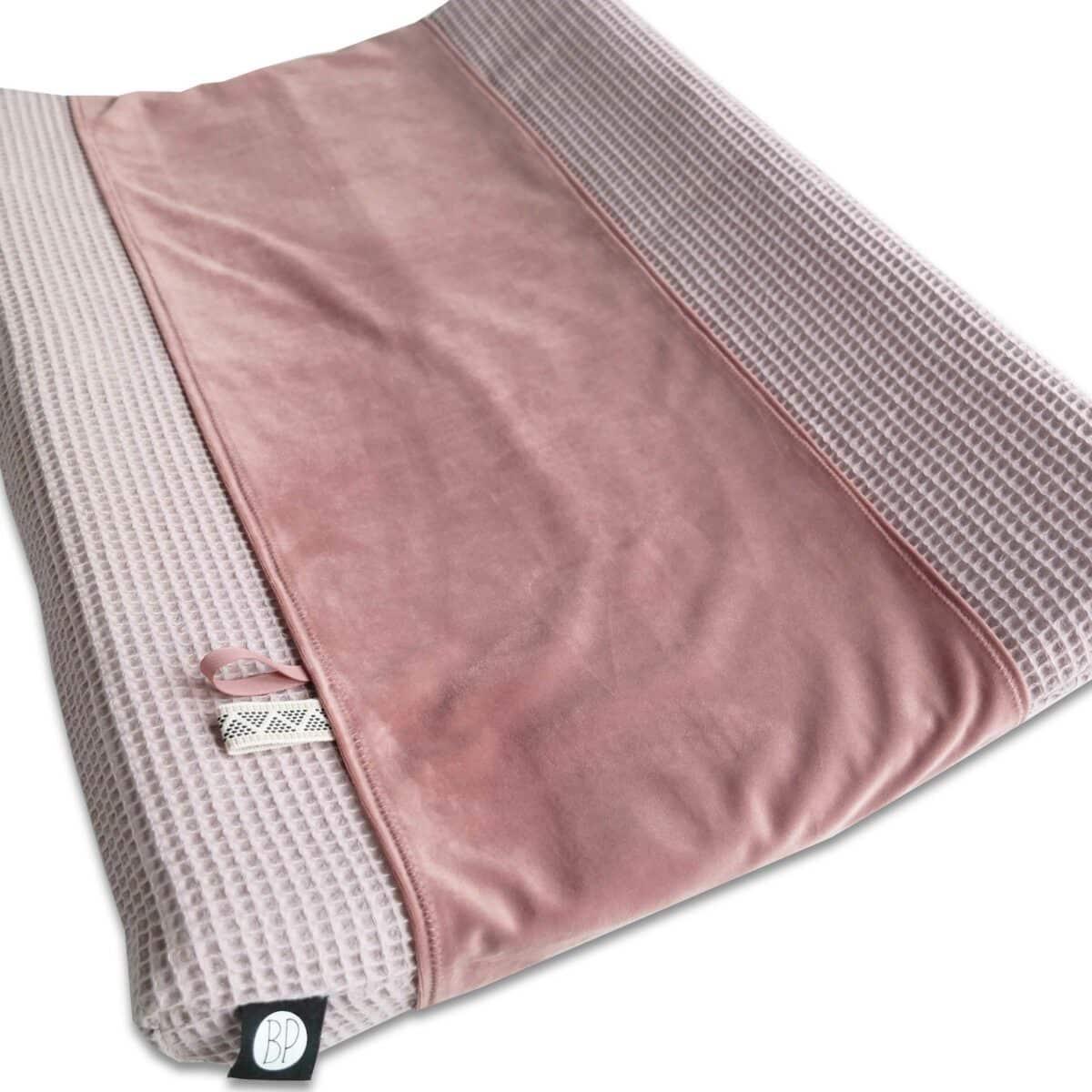 Omkleedkussenband velvet roze 1